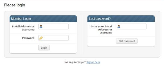 Screenshot of the MySolver™ Login page